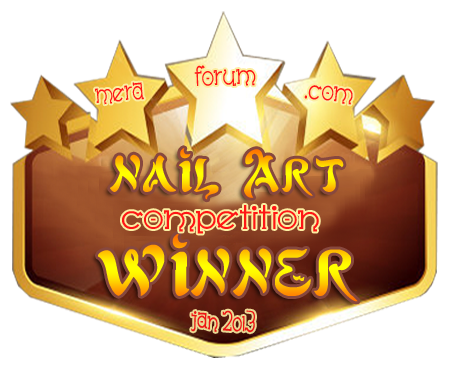Winner of Meraforum Nail Art Competition