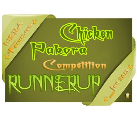 Runner up of Meraforum Chicken Pakora Competition.